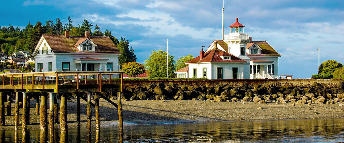 Mukilteo Lighthouse viewed from Puget Sound